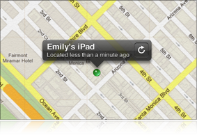 Image of the Refresh button in the Find My iPhone toolbar