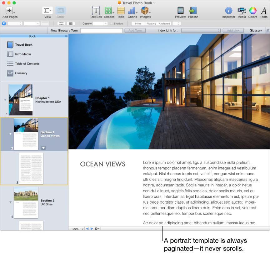 iBooks Author: Choose a template