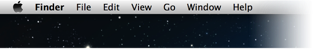 Left side of menu bar, showing application icons