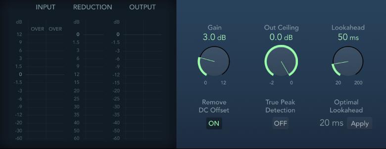 Logic Pro X: Adaptive Limiter