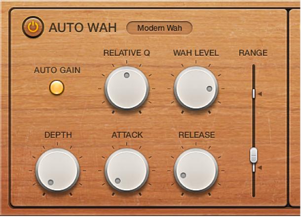 Logic Pro X: Auto Wah parameters