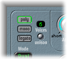 Logic Pro X: EVOC 20 PolySynth global parameters