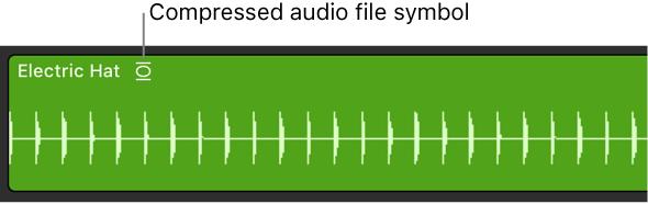 Logic Pro X: Import compressed audio files