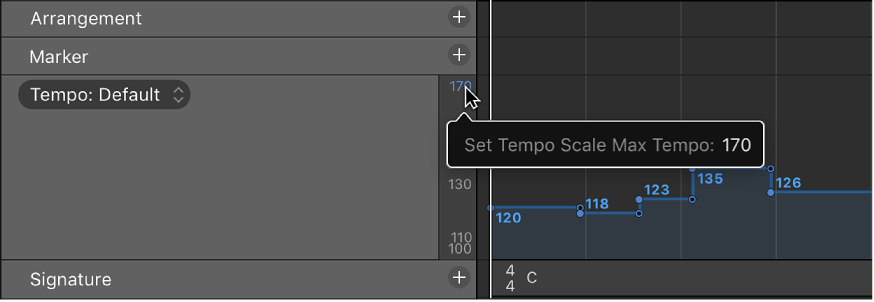 Logic Pro X Tempo Track Overview