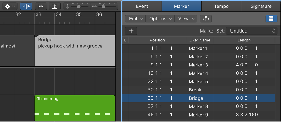 how to create markers in logic pro x