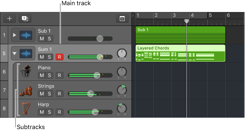 Logic Pro X Track Stacks Overview