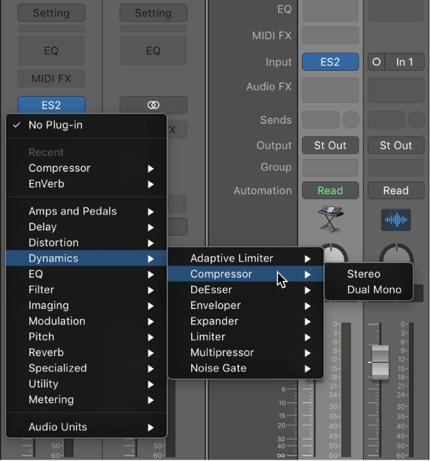 Logic Pro X: Add, remove, move, and copy plug-ins