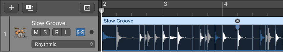 Logic pro x create groove templates figure audio region selected in the tracks area maxwellsz