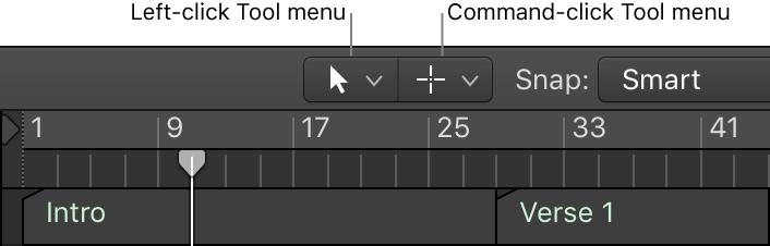 Logic Pro X: Assign tools