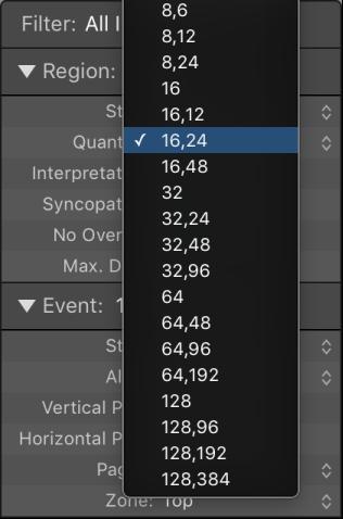 Logic Pro X: Quantize