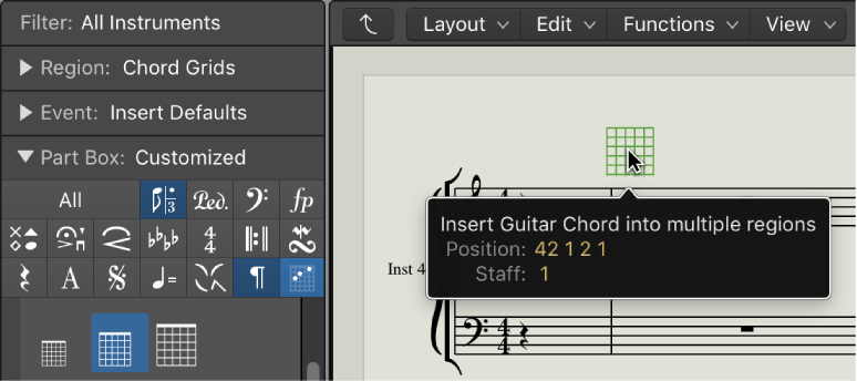 Logic Pro X Insert And Edit Chord Grids In The Score Editor