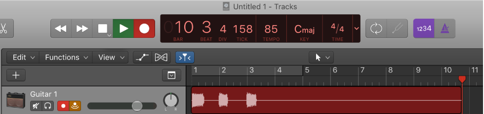 Logic Pro X: Get started with audio tracks