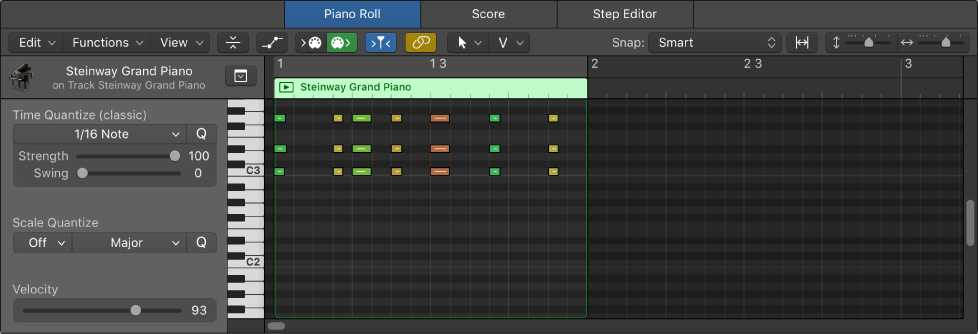 Logic Pro X Get Started With The Piano Roll Editor