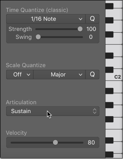 Logic Pro X: Change note articulations in the Piano Roll Editor