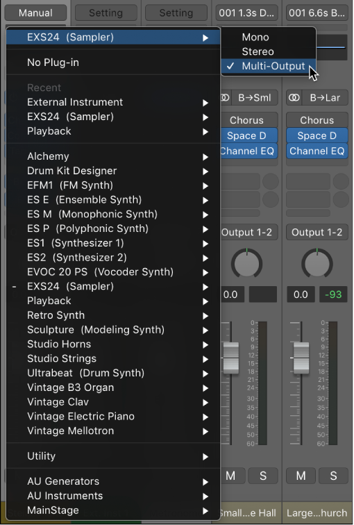 MainStage: Use multiple instrument outputs