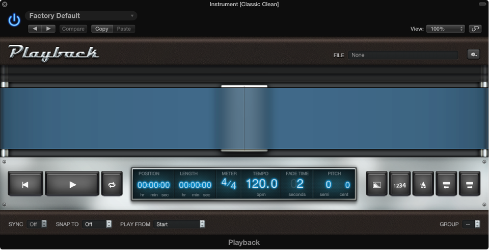 MainStage: Add a Playback plug-in