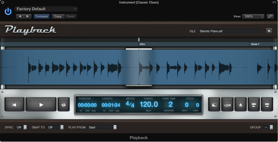 MainStage: Add an audio file to the Playback plug-in