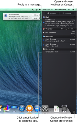 Image of Notification Center and alerts