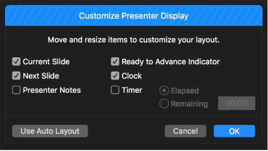 Keynote for Mac: Play a presentation on a separate display