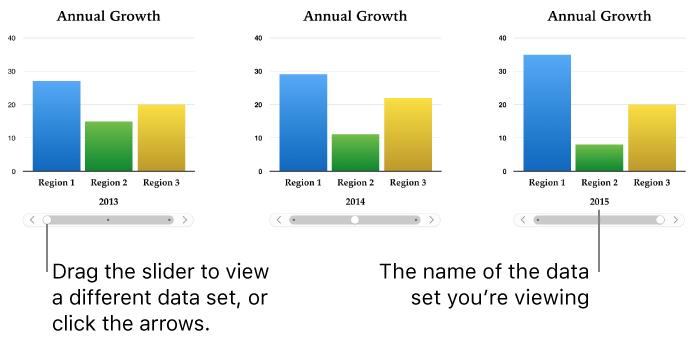 Keynote for Mac: Add or delete a chart in a Keynote presentation