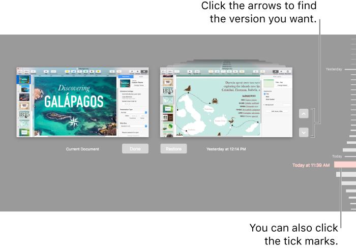 Keynote for Mac: Restore an earlier version of a Keynote ...