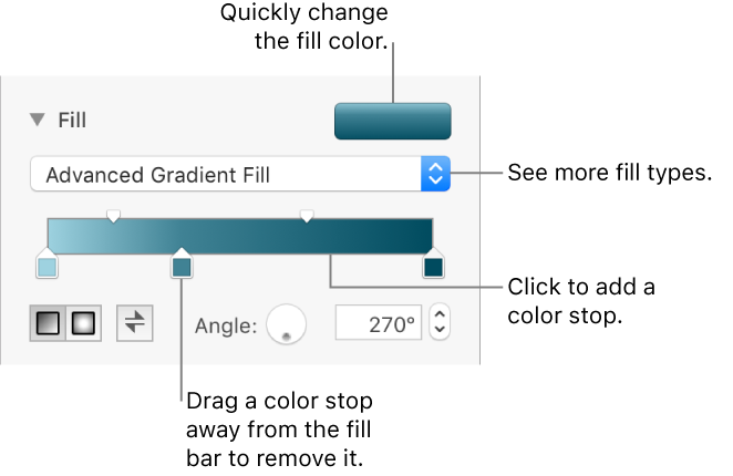 Pages for Mac: Fill a shape or text box in a Pages document