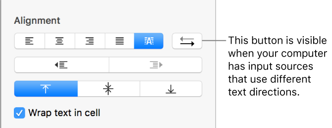 Pages for Mac: Format tables for bidirectional text in Pages