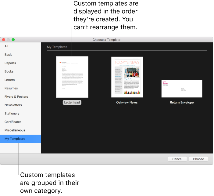 Pages For Mac Create A Custom Template
