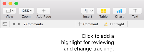 Pages for Mac: Highlight text in Pages
