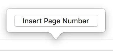 how to manually add page numbers and headers and footers