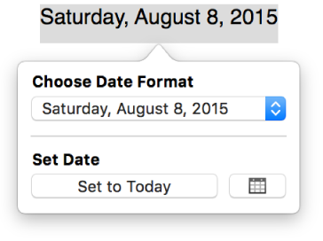 Pages for Mac: Add the date and time in a Pages document