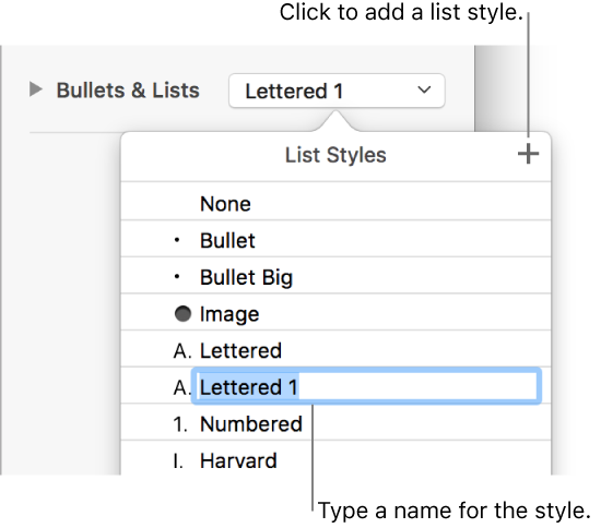 Pages for Mac: Format lists in a Pages document