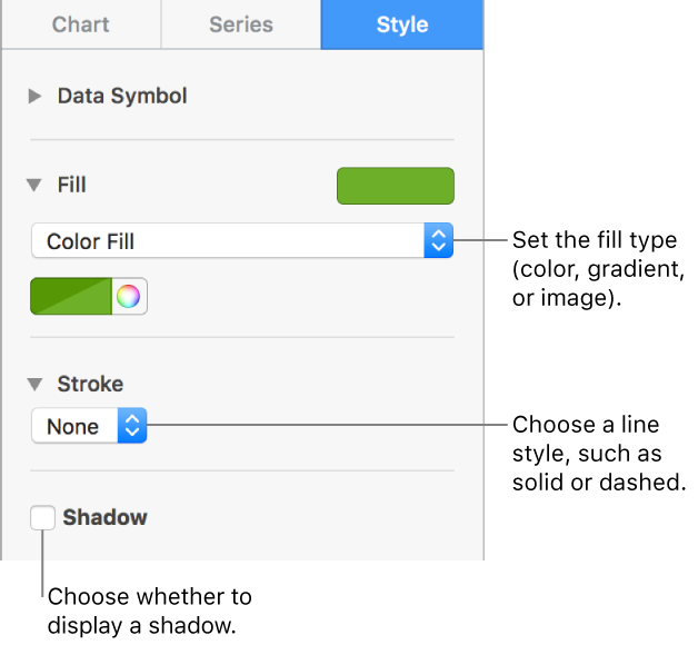 Pages For Mac Change The Look Of Chart Data Series In Pages