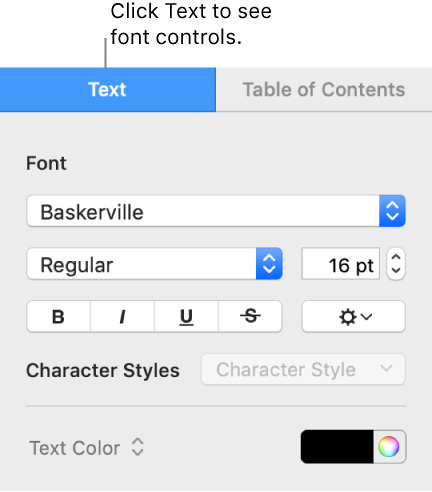Pages for Mac: Create a table of contents in a Pages document