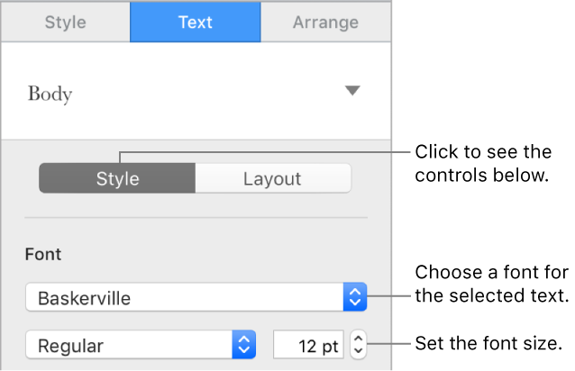 how to change the font size on mac