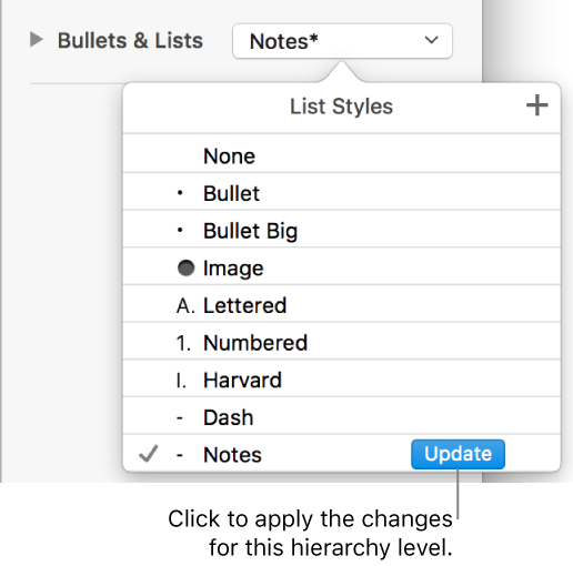 Numbers for Mac: Format lists in a Numbers spreadsheet