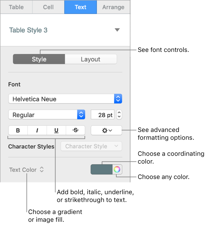 how to change the font size in solidworks tables