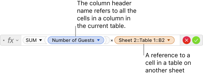 Numbers for Mac: Calculate values using data in table cells