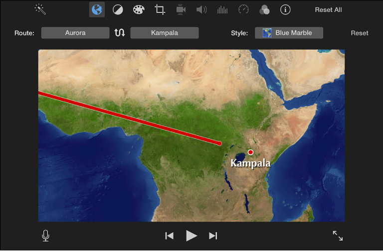 imovie for mac add animated travel maps and backgrounds
