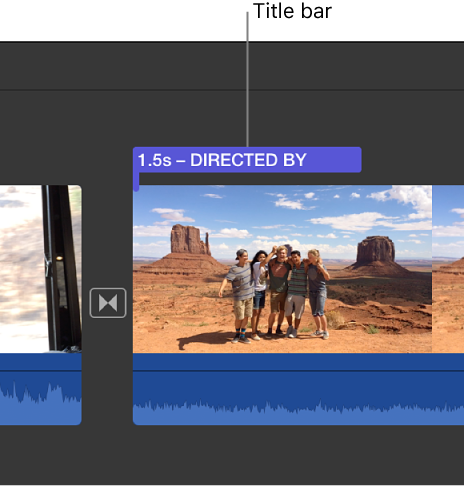 iMovie for Mac: Modify titles
