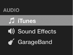 iTunes selected in sidebar