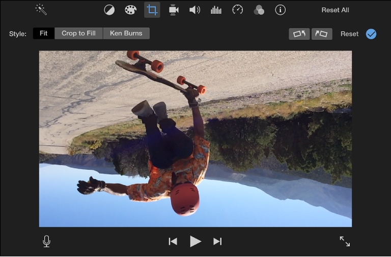 iMovie for Mac: Rotate a clip