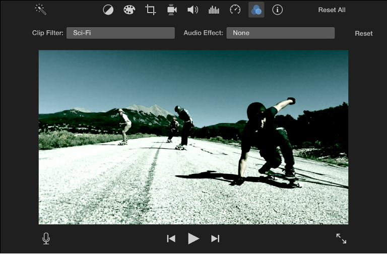 iMovie for Mac: Add video effects