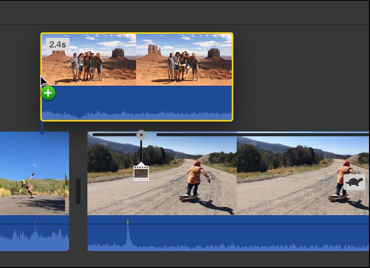 iMovie for Mac: Create a split-screen effect