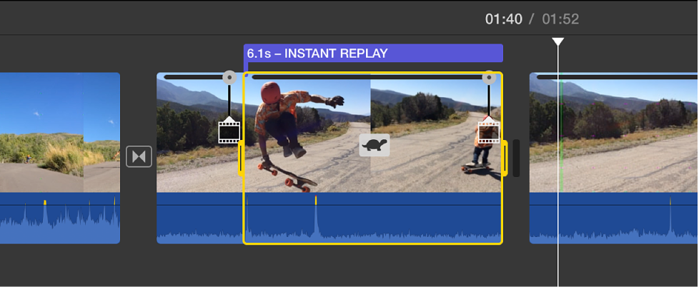 iMovie for Mac: Add an instant replay or rewind effect
