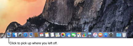 Handoff app icon in Dock