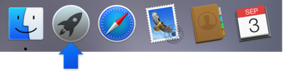 Launchpad icon in Dock