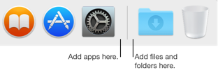 Dock separator line between apps and files and folders
