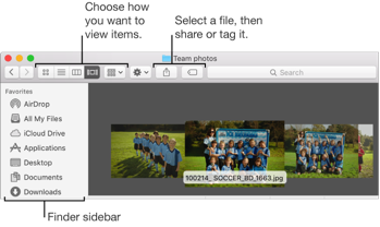 Example of a Finder window