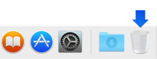 Trash icon in Dock